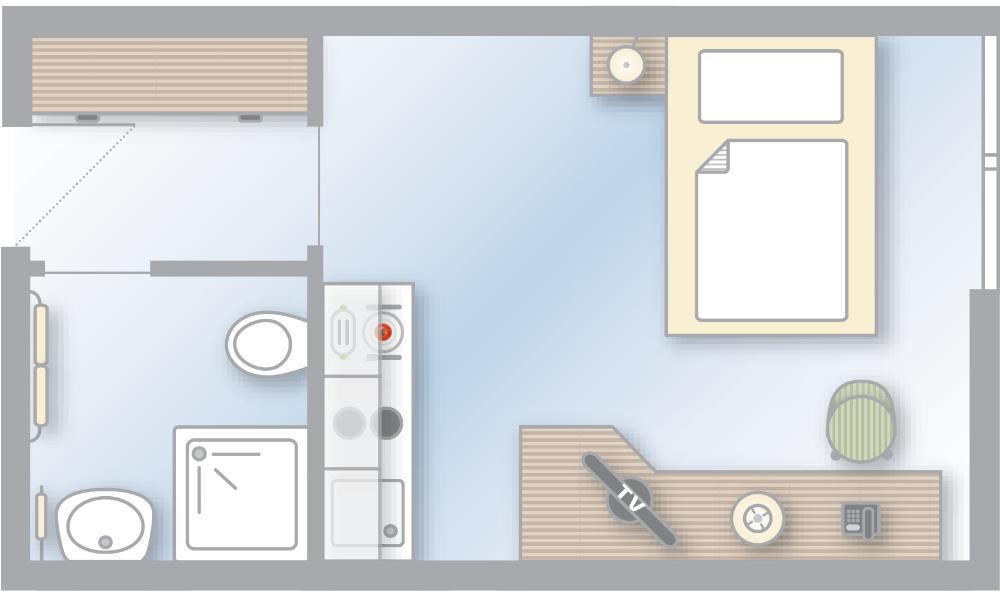 1 zimmer apartments hotel stuttgart apartmenthotel. Black Bedroom Furniture Sets. Home Design Ideas